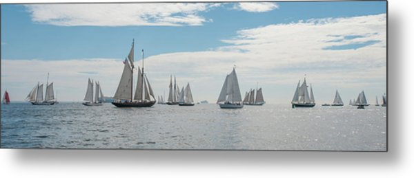 Metal Print featuring the photograph Schooners On The Chesapeake Bay by Mark Duehmig