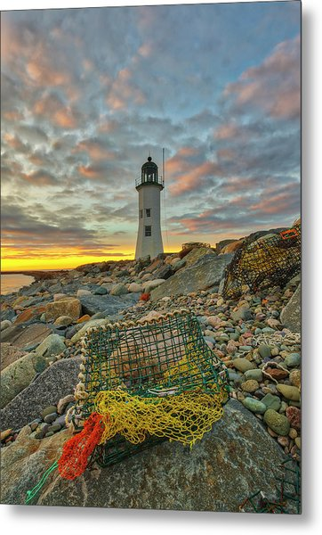 Metal Print featuring the photograph Scituate Lighthouse by Juergen Roth