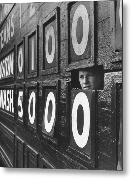 Scoreboard Peep Metal Print