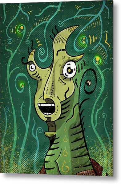 Metal Print featuring the digital art Scream by Sotuland Art