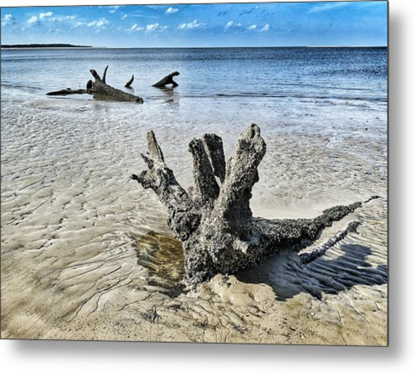 Sculpted By The Sea Metal Print