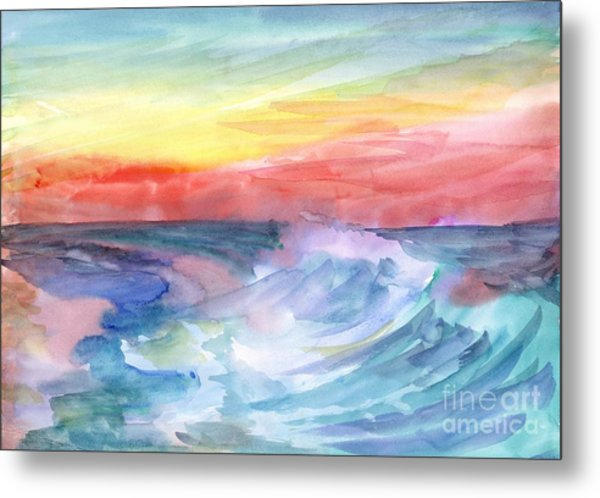 Sea Wave Metal Print