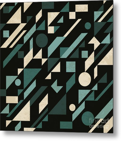 Seamless Abstract Pattern With Metal Print
