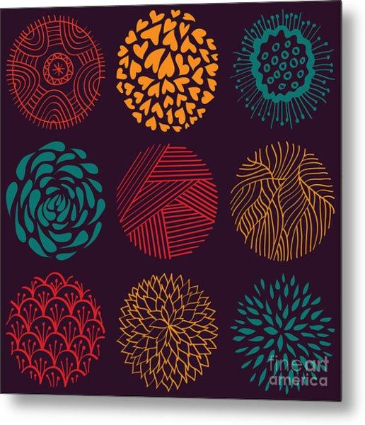 Seamless Circle Pattern Metal Print