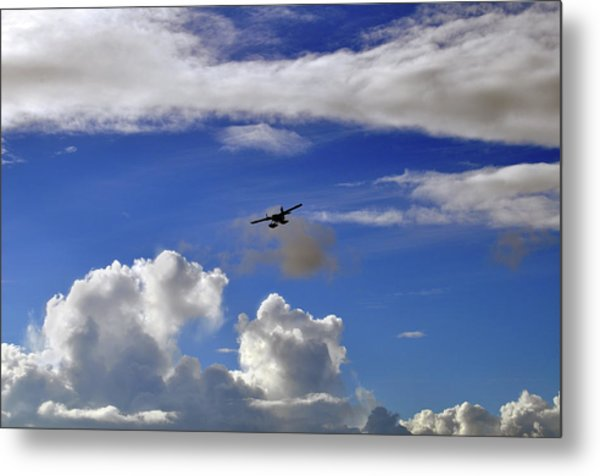 Seaplane Skyline Metal Print