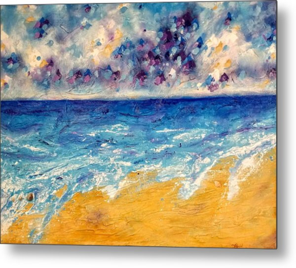 Metal Print featuring the painting Searching For Rainbows by Tracy Bonin