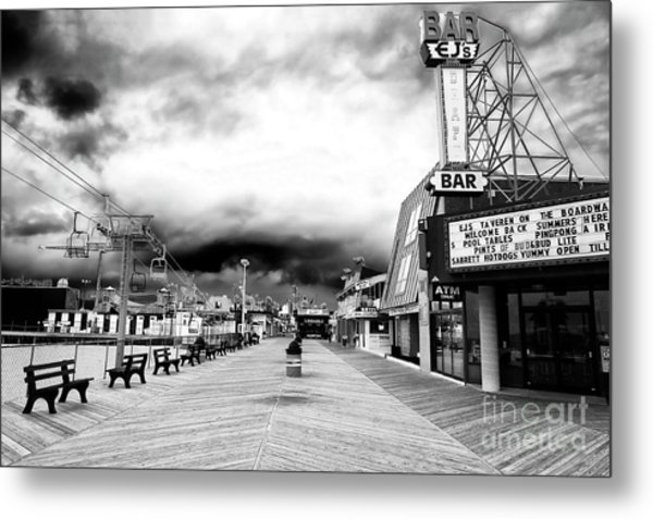 Seaside Heights Before The Crowds Metal Print