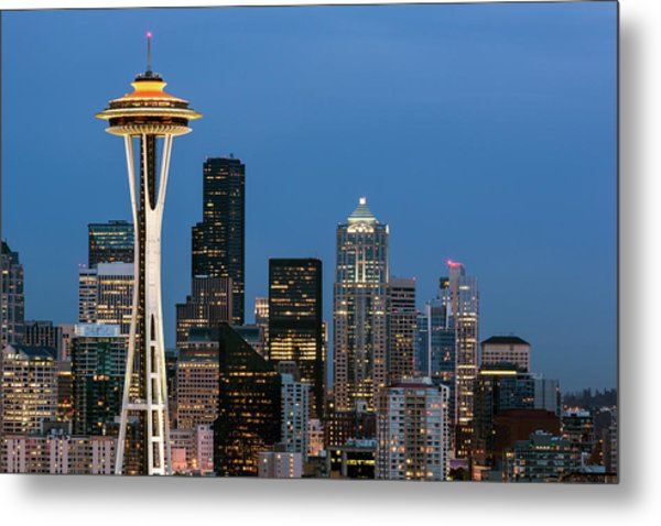 Metal Print featuring the photograph Seattle Space Needle by Nicole Young