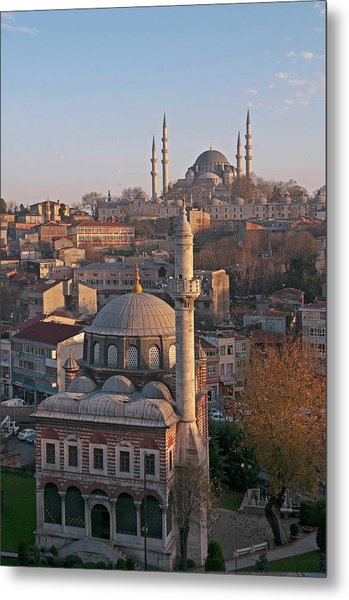 Sebsefa Hatun And Suleymaniye Mosques Metal Print