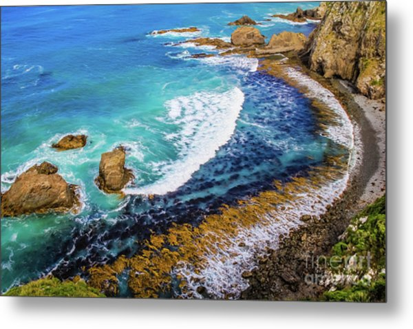 Roaring Bay At Nugget Point Metal Print