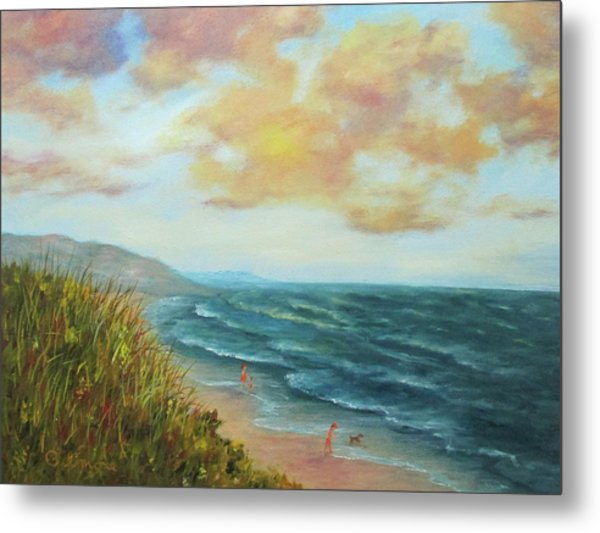 Secluded Beach Metal Print