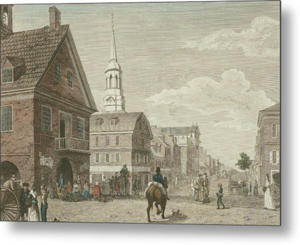 Second Street North From Market St. And Christ Church Metal Print