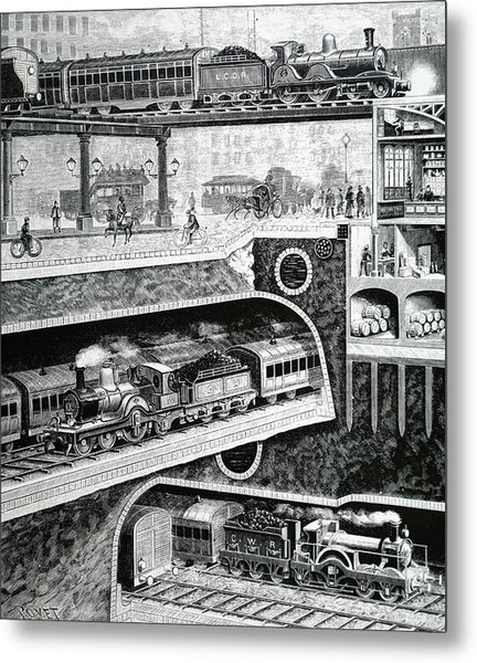 Sectional View Of London S Transport Metal Print