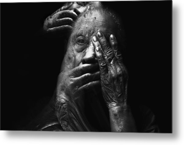 Metal Print featuring the digital art See No Evil Hear No Evil Speak No Evil by ISAW Company