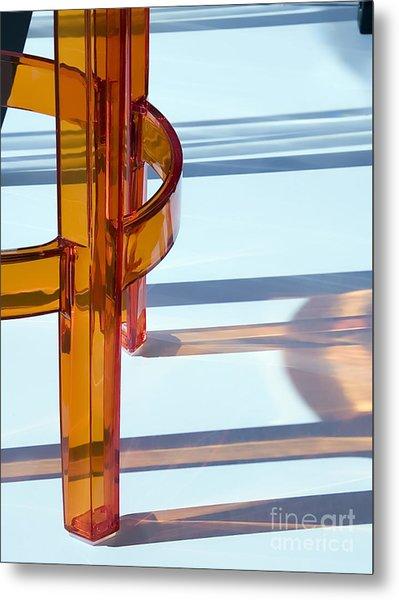 See-through Chair Legs In Sunlight In Metal Print