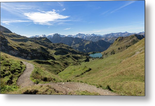 Metal Print featuring the photograph Seealpsee, Allgaeu Alps by Andreas Levi