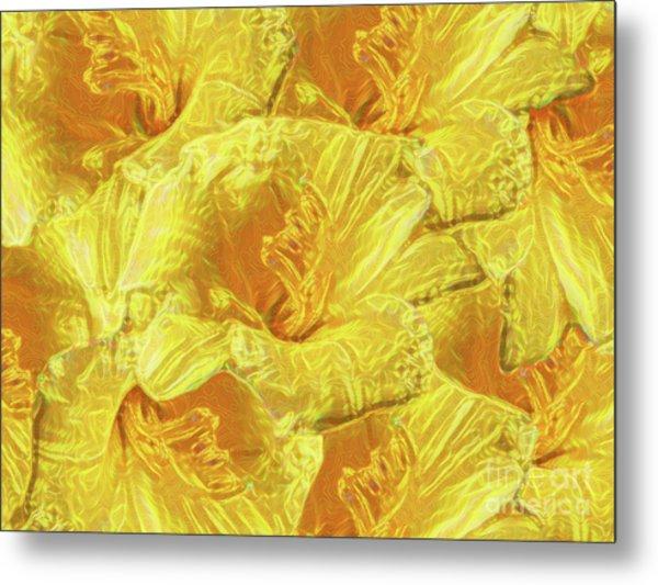 Selective Yellow Lilies Metal Print