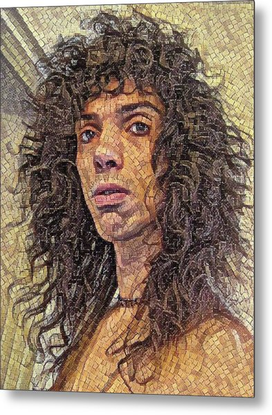 Self Portrait - The Shawn Mosaic - 80s Glam Rock Metal Print