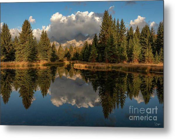 Serene At Schwabachers Landing Metal Print