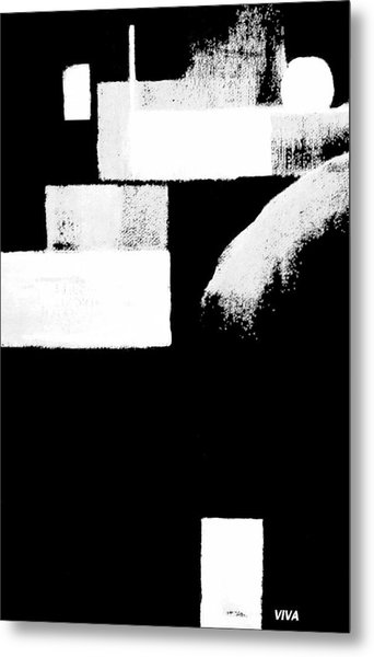 Seriously Black And White Metal Print