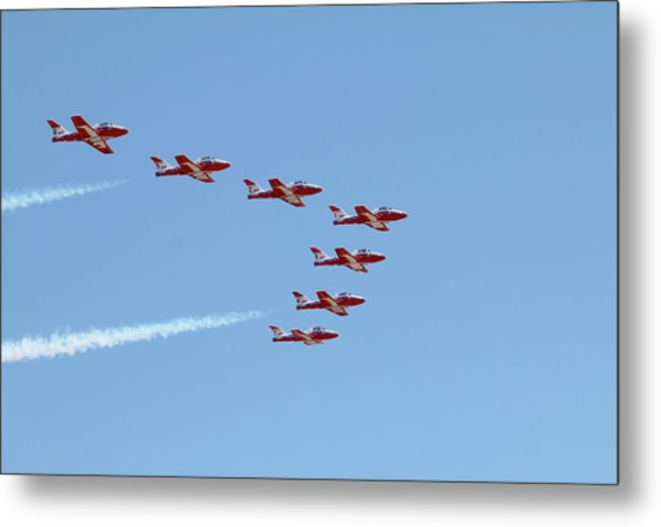 Seven Snowbird Fighters Metal Print