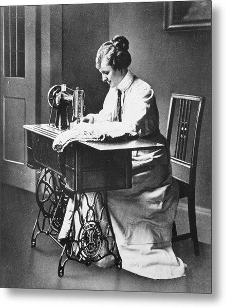 Sewing Machine Metal Print by Hulton Archive