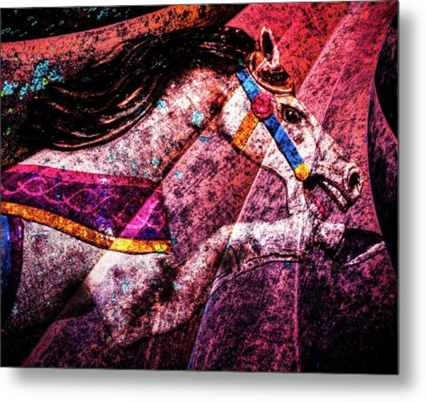 Metal Print featuring the photograph Shades Of Antique Carousel by Michael Arend