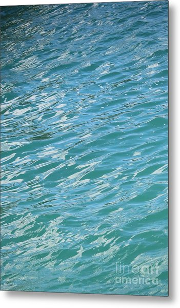 Shades Of Tropical Blue Water Metal Print
