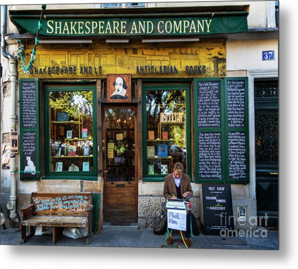 Shakespeare And Company Bookstore Metal Print
