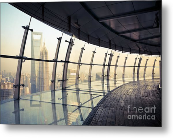Shanghai Scenery, View From The Metal Print