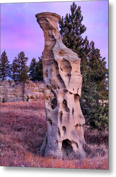 Shapes Of Time In Sandstone Metal Print by Leland D Howard