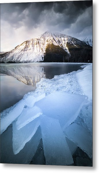 Metal Print featuring the photograph Shattered Ice / Lake Mcdonald, Glacier National Park  by Nicholas Parker