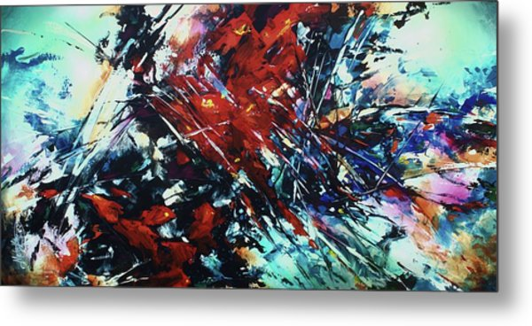 Shattered Red Metal Print