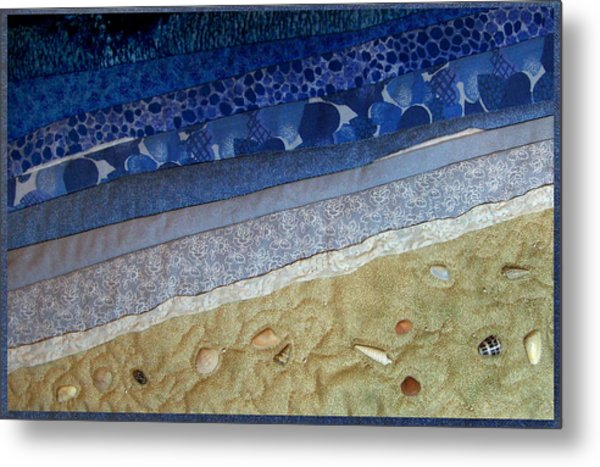 She Sews Seashells On The Seashore Metal Print