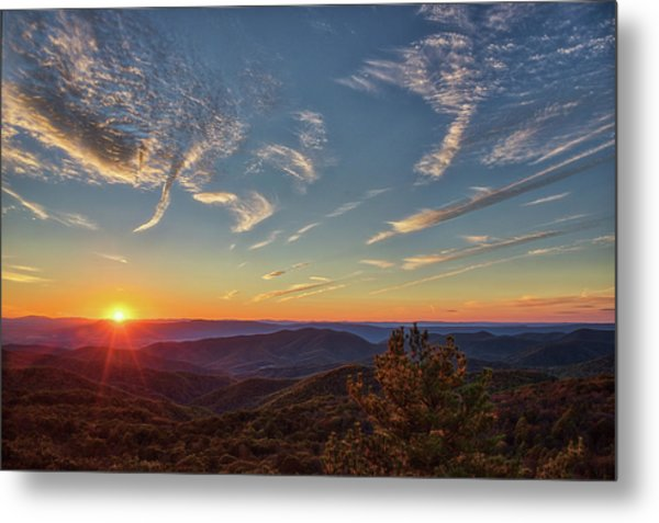 Shenandoah Sunset Metal Print by Zev Steinhardt