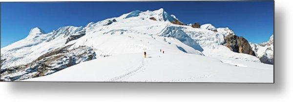 Sherpas Carrying Expedition Kit Snow Metal Print