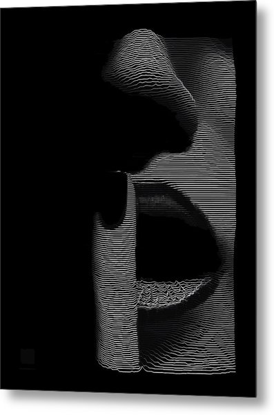 Metal Print featuring the digital art Shhh by ISAW Company