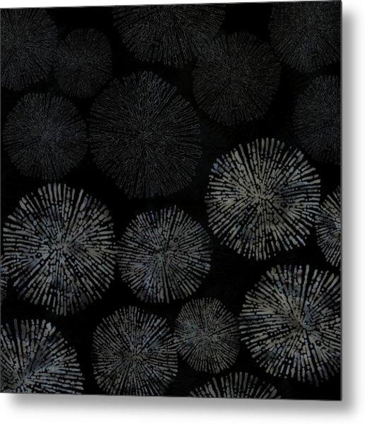 Shibori Sea Urchin Burst Pattern Metal Print