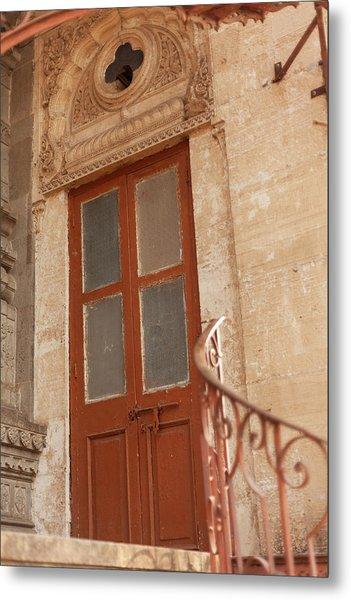 Shinde Chhatri Door Metal Print by Fran Riley