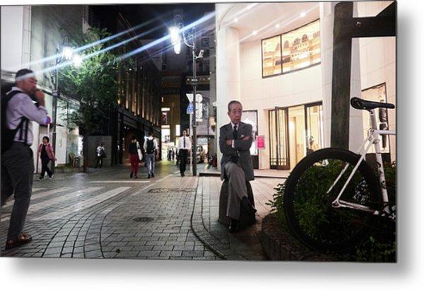 Shinjuku Man Metal Print