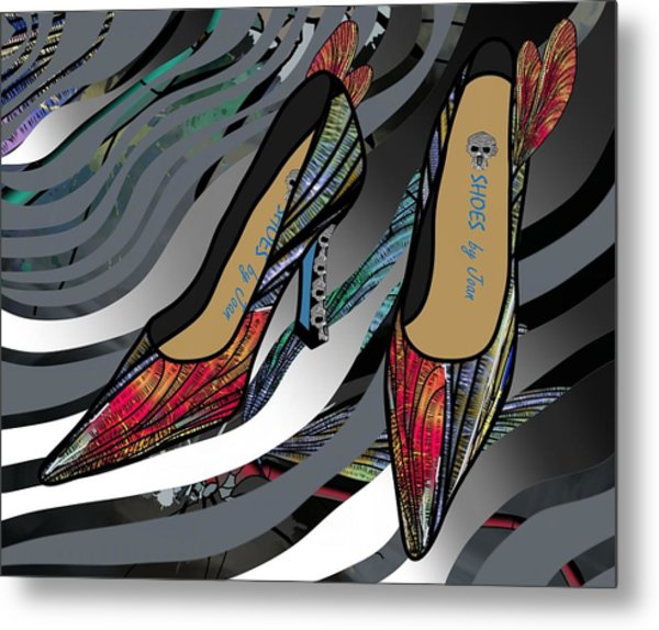 Shoes By Joan - Dragon Fly Wing Pumps Metal Print