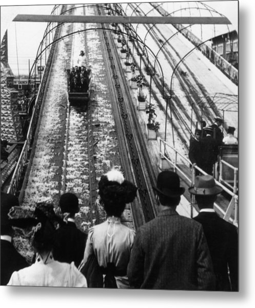 Shooting The Chutes Metal Print by Hulton Archive