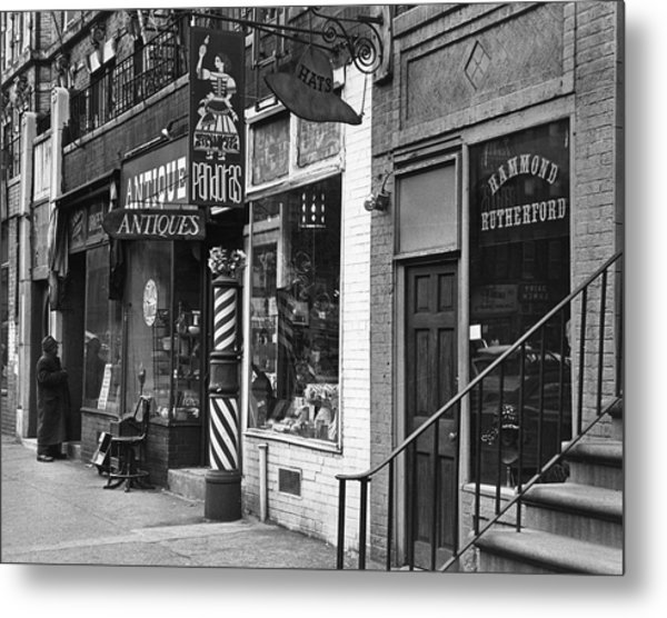 Shops On St Marks Place Metal Print by Fred W. McDarrah