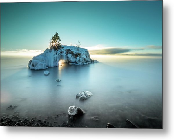 Metal Print featuring the photograph Shoreline Light Show / Lake Superior, Minnesota  by Nicholas Parker