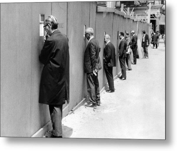 Sidewalk Superintendents Watching Metal Print