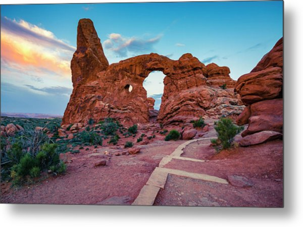 Sighting In The Turret At Sunrise Metal Print