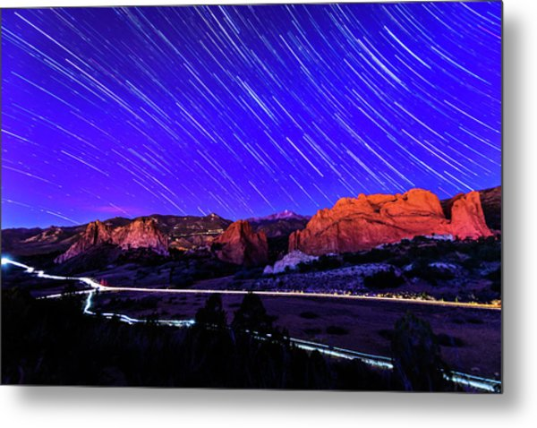 Silent Night At The Garden Of The Gods Metal Print