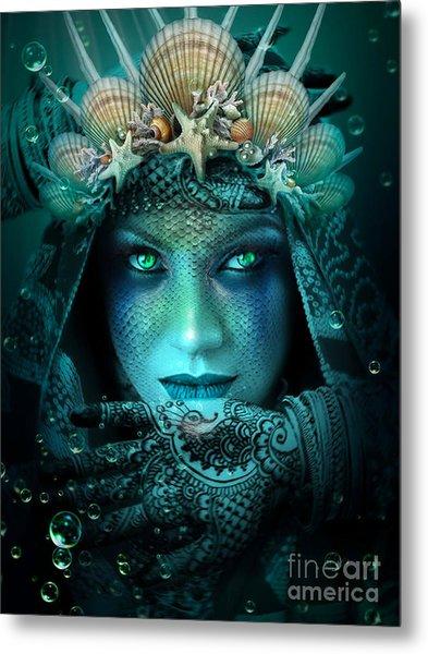 Sister Green Eyes Metal Print