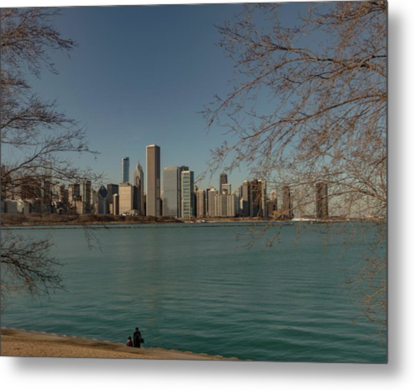 Sitting On A Summer Day Metal Print