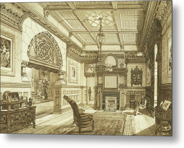 Sitting Room Of Bardwold, Merion Pa Metal Print
